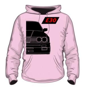 E30 Bluza z Kapturem Różowa