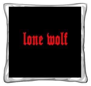 Poduszka Samotny Wilk
