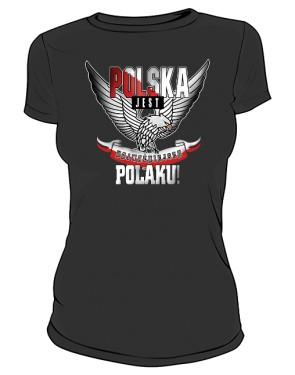 POLSKA Najważniejsza wer2 tshirt damski