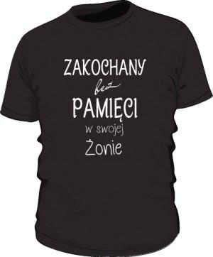 Zakochany koszulka  męska czarna