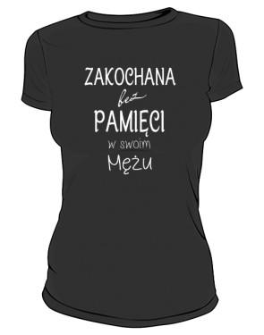 Zakochana koszulka damska czarna