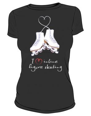 Koszulka I love inline figure skating