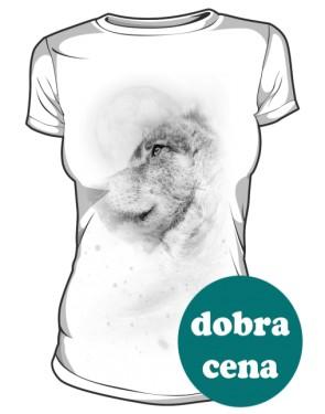 Biały Wilk tshirt damski