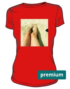 Dopasowana koszulka czerwona