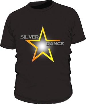 podkoszulka męska czarna SILVER DANCE