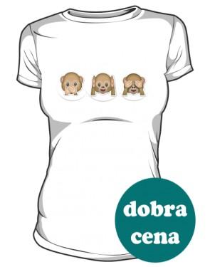 Małpiatki buzki koszulka damska