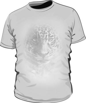 Leopard grey tshirt męski