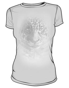 Leopard grey tshirt damski