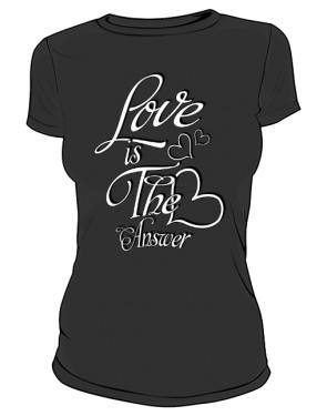 Love koszulka damska czarna