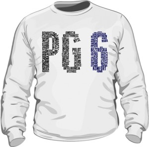 PG6 Biała bluza męska