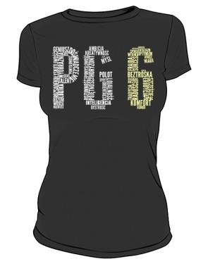 PG6 Czarna koszulka damska