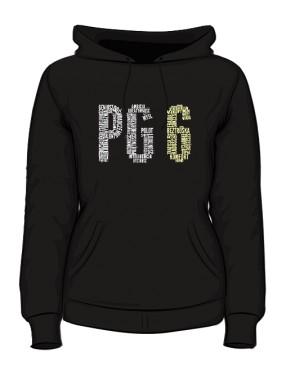 PG6 Czarna bluza z kapturem damska