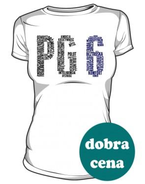 PG6 Biała koszulka damska