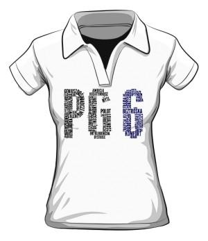 PG6 Biała koszulka polo damska