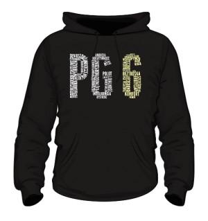 PG6 Czarna bluza z kapturem męska