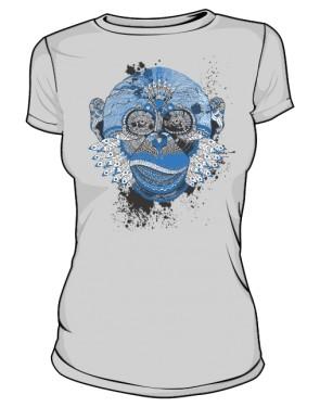 Małpa Aztec koszulka damska