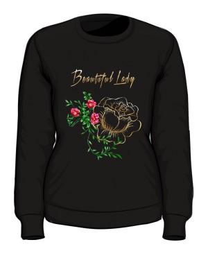 Bluza Piękna Pani z Kwiatami
