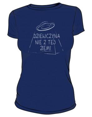 Kosmiczna dziewczyna koszulka