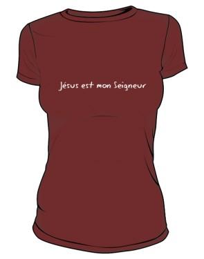Koszulka damska bordo