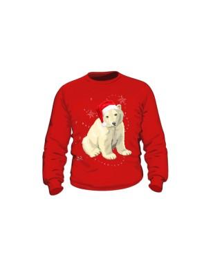 Mikołaj Miś Polarny Bluza Dziecko