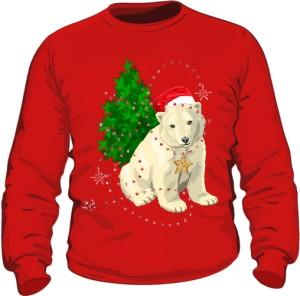 Mikołaj Miś Polarny 2 Bluza Męska