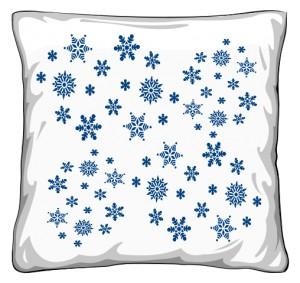 Gwiazdki Śniegowe Poduszka Zimowa