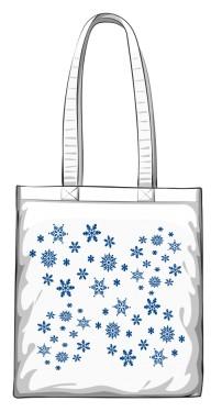 Gwiazdki Śniegowe Torba  Zimowa