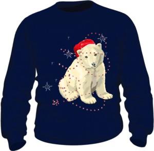 Mikołaj Miś Polarny Bluza Męska