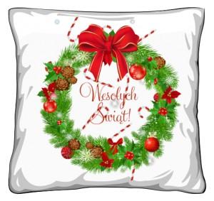 Wesołych Świąt poduszka świąteczna
