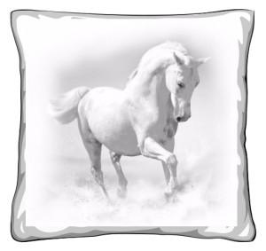 Biały Koń Poduszka