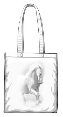 Biały Koń Torba zakupowa