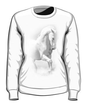 Biały Koń Bluza Damska