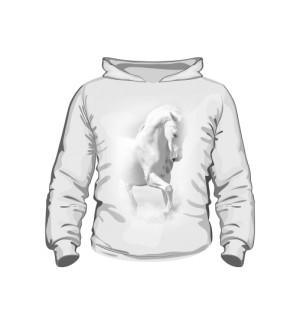 Biały Koń Bluza kaptur Dziecko