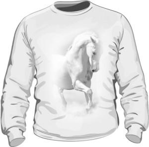 Biały Koń Bluza Męska