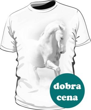 Biały Koń Koszulka Męska