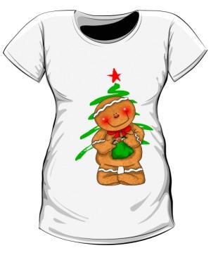 Koszulka Ciążowa Choinka na święta