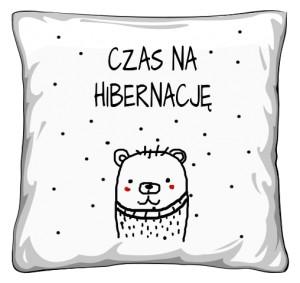 Poduszka  Miś Czas na Hibernację