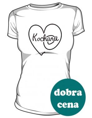 Kochana Serce Koszulka Damska