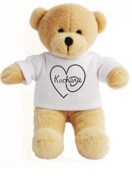 Pluszowy Miś w  koszulce z Sercem 2