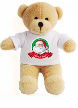 Miś z Mikołajem Wesołych Świąt