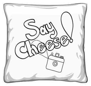 Say Cheese Poduszka Selfie