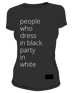 people in black womens tee