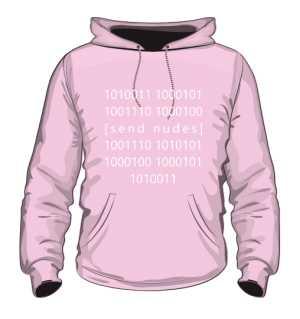Bluza Hoodie SEND NUDES Binary Pink
