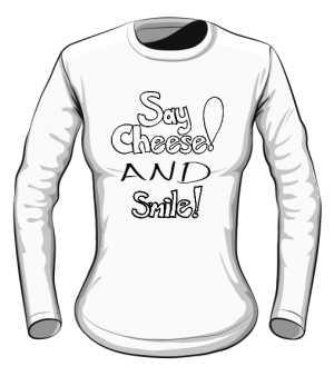 Cheese and Smile Longsleeve Damski