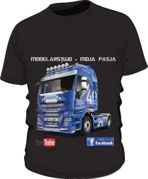 Czarna koszulka z Iveco Hi Way