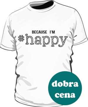Koszulka męska HAPPY biała