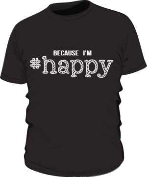 Koszulka męska HAPPY czarna