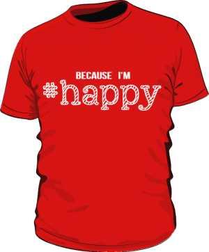 Koszulka męska HAPPY czerwona