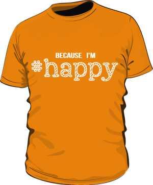 Koszulka męska HAPPY pomarańczowa