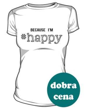 Koszulka damska HAPPY biała